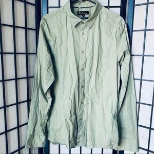 Ben Sherman green button down shirt sz 2XL
